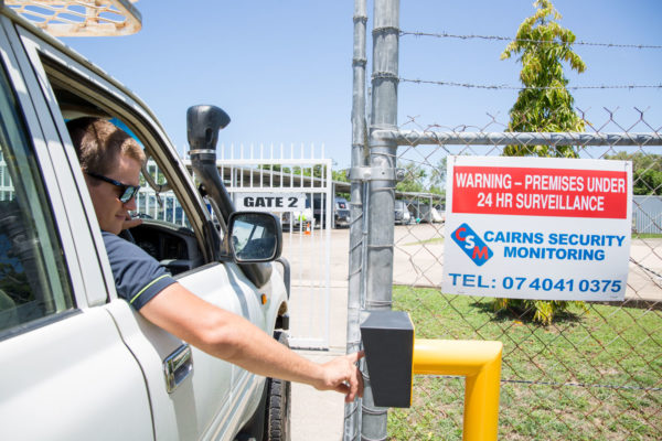 Key pin security at gate of Cairns Beaches Storage